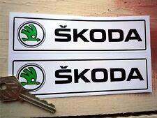 SKODA new style logo 150mm Oblong Car Stickers