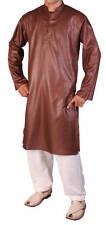 Men's Indian Pakistani Punjabi Style Self Print Kurta Salwar Suit,S - XL (36-42)