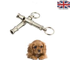 Sonido Ajustable Perro Cachorro Mascota Entrenamiento Silbato SILENCIOSO ULTRASONIDOS LLAVERO-UK