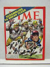 Aug 27, 1973- TIME Magazine- Jack Davis Nixon Football Cover VG