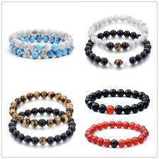 Women Men's Bracelet Buddha Beads Stone Lava Handmade Vintage  Bracelets