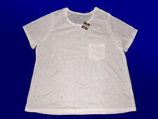 Tunika Damenshirt Shirt  Blusenshirt mit Stukturmusterung Gr. 48-50  wollweiß