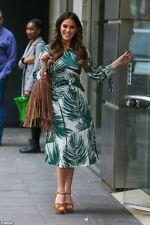 Zara * crudo vestido midi impresa Palm * Tamaño _ Xs _ s _ m _ l _ xl
