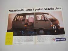 advertising Pubblicità 1987 NISSAN VANETTE COACH