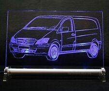 LED-Leuchtschild graviert ist  Vito  als AutoGravur DB Kasten