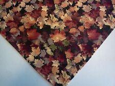 Dog Bandana/Scarf Tie On/Slide On Autumn Leaves Custom Made by Linda XS S M L
