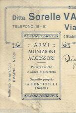 NAPOLI_CACCIA_ARMERIA VARRIALE_ANTICA PUBBLICITARIA_STORIA POSTALE_D'EPOCA_1923