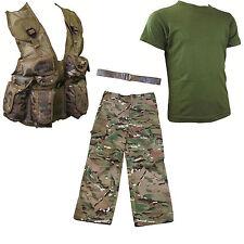 Kids Pack 6 HMTC MTP MultiCam Pants, Action Army PLCE vest , Olive T-shirt BELT