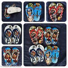 Official Marvel Avengers Flip Flops Sandals Shoes Thor Ironman Flop Sandal Shoe