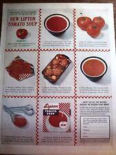 1961 LIPTON TOMATO SOUP Color Ad