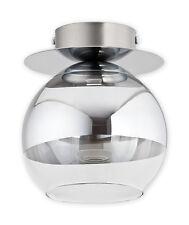 Moderno al ras solo 1 Luz de Techo Lámpara de Bola de Cristal LED de Comedor Cromo Espejado