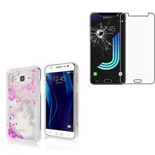 Pour Samsung Galaxy Coque Rigide avec Liquides Sable Étoiles  + 1 Verre trempé