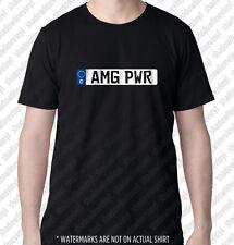 AMG PWR European Euro License Plate T-shirt German MB SL63 CL63 E63 CL65 C55 E55