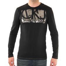 T shirt Calvin klein homme manche longue S M L XL noir ou blanc CMP96R