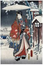 Japanese POSTER.Stylish Graphics.Winter Fashion.Asian art.Room Decor152i