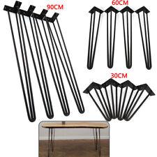 Table Hairpin Steel Legs 3 Rod Industrial Desk Furniture Legs 30/60/90cm  4Pcs