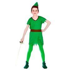 Niño Chico Perdido Robin Hood Elf Boys Fancy Dress Outfit Libro Semana Disfraz edad 5-13