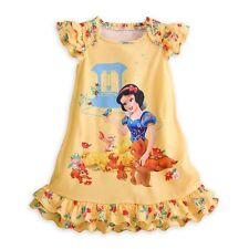 Disney Store Princess Snow White Short Sleeve Nightgown Pajama Girl 5/6 7/8 9/10