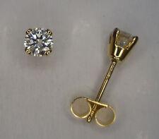 1/5CT GENUINE DIAMOND STUD EARRINGS YELLOW GOLD