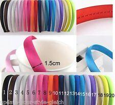 HAARREIF Satin  1,5cm breit  Satin-Haarreif  Haarband  -  21 Farben zur Wahl