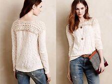 NWT Anthropologie Kellen Crochet pullover by Meadow Rue, M, L, sweater top shirt