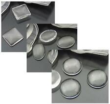 Cabujones semicirculares de vidrio transparente Redondo Oval tamaño cuadrado de calidad superior de elección