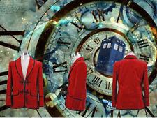 Doctor Who Doctor Red Corduroy Jacket Cosplay Costume Christmas coat