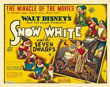 Snow White and the Seven Dwarfs (1937) Disney cult cartoon movie poster print