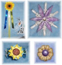 FROZEN FEVER ELSA ANNA Snowflake Sunflower HAIR COMB Ribbon Pin Bracelet Cosplay