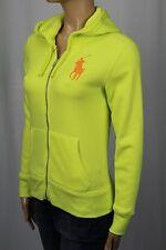 Ralph Lauren Neon Yellow Full Zip Hoodie Sweatshirt Big Pony NWT