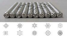 5 mm Various Floral Patterns Precision Design Metal Punch Stamps Individual/ Set