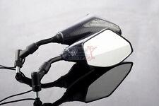 KTM DUKE 690 R 200 390 125 ABS Carbon 10mm LED Turn Signal Integrated Mirror Set