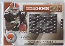 2010 Panini Gridiron Gear #269 Montario Hardesty Cleveland Browns Auto RC Card