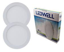 Panel LED 18w plana instalación lámpara redondo blanco cálido blanco frío muro light SMD IP 22mm