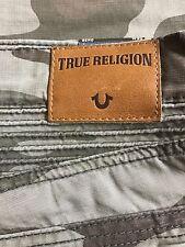 NWT True Religion Brand Men's Geno Slim Moto Camo Military Green Jeans Pants