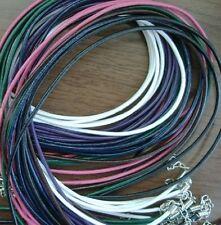 Collar Pulsera de Cuero Colores Genuino Banda Cadena 1,5 Mm Aprox. 45 Cm Nuevo