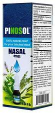 Pinosol Nasal Drops 10-50 ml. Natural Herbal Remedy Acute Rhinitis, Runny nose.