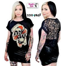 B22 Popular Skulls Skeletons Nala Punk Rock Goth Ladies Alternative Fashion Top