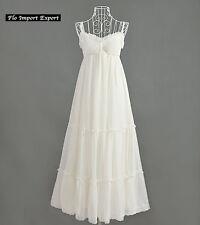 Vestito Lungo Donna Estivo Bianco Woman Maxi Summer White Dress 110283