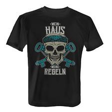 Mein Haus Herren T-Shirt Totenkopf Einweihungsgeschenk Hausbauer Heimwerker Cool