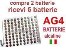 BATTERIE BATTERIA AG4 LR66 GP77A LR626 SR626SW SR66 377 376 NUOVE  offerta 2x6