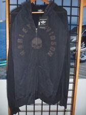NOS Harley Davidson Mens Willie G Skull Custom Wash Full Zip Hoodie 96573-14VM