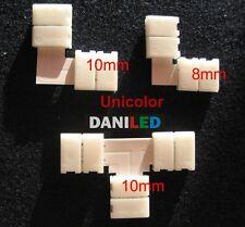 """Conector en """"L"""" ó ''T'' 2 pin UNICOLOR 8mm ó 10mm para tiras led unicolor (NUEVO"""