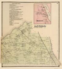 Old City Map - Oswego, Minetto New York Landowner - Stone 1866 - 23 x 25.76