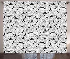 Eastern Yoga Curtains 2 Panel Set Decor 5 Sizes Available Window Drapes