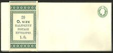 20 1/2 D Verde Edward Vii Sobres wrapper completo Band 20 o.size Halfpenny