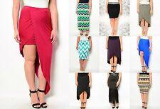 Lot Women Maxi Skirt Career Flared Pencil Stretch Waist Casual Plus XL 2X 3X