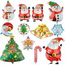 Christmas Balloons Santa Claus Xmas Tree Gift Elf Snowman Bells Candy Cane