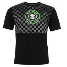 Tshirt Homme No Fear Moto Cross T shirt crane tete de mort squelette damier mode