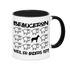 Tasse BLACK SHEEP  BEAUCERON Schäferhund Hund Hunde Schaf Kaffebecher Siviwonder